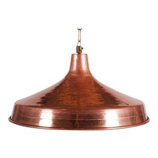 Danish Hammered Copper Hanging Lamp, 1950s