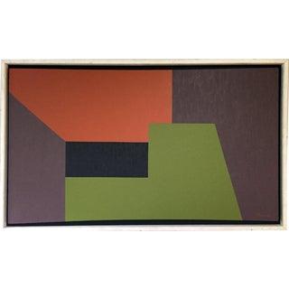 Orange, Gray, Black, & Green Acrylic Composition