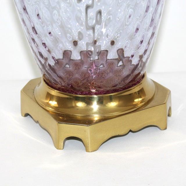 Hollywood Regency Glass Lamp - Image 3 of 8