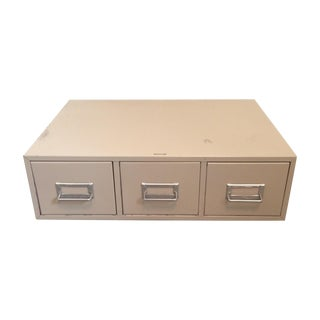 Industrial Tan Metal Card Catalog