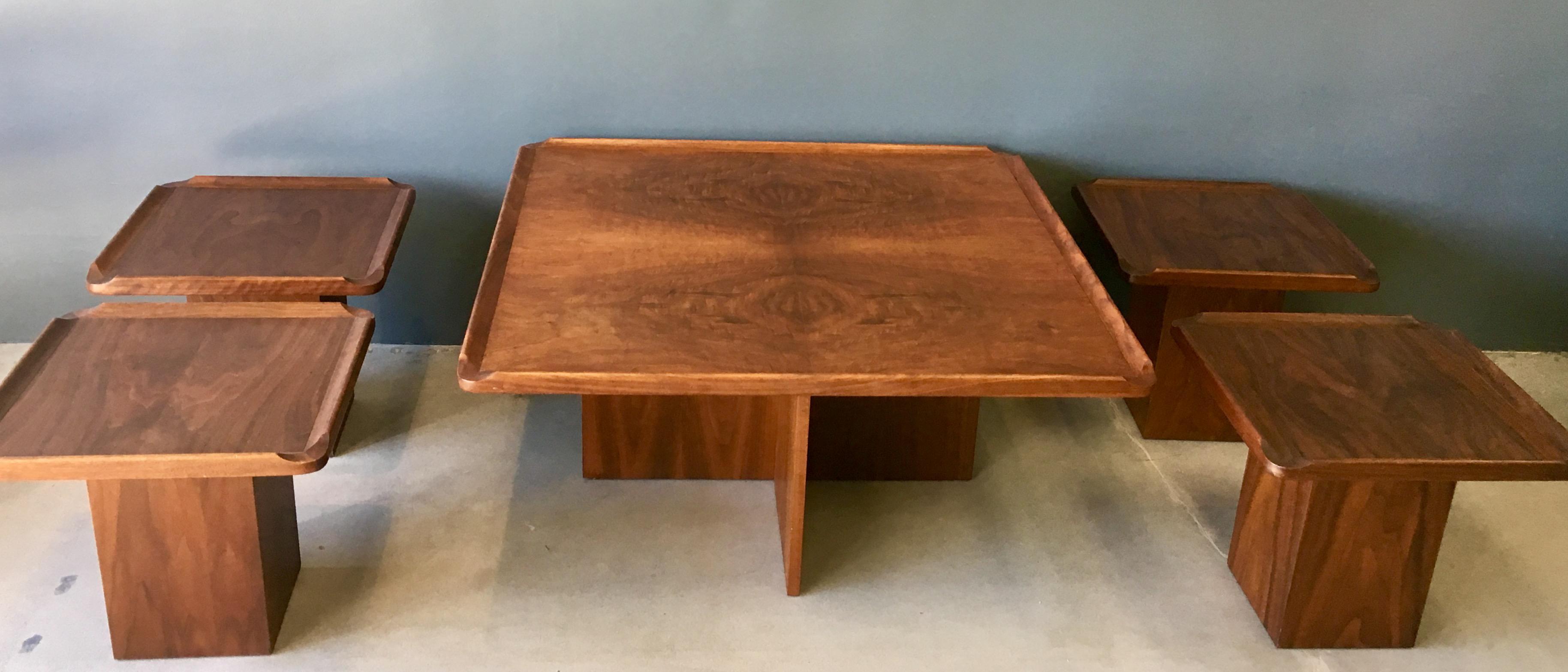 Brown Saltman Mid Century Coffee U0026 Nesting Tables   5 Pieces   Image 2 Of