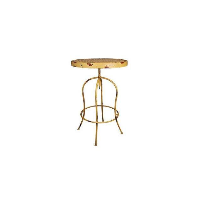 Yellow Metal French Bistro Garden Table & Chairs - Image 4 of 5