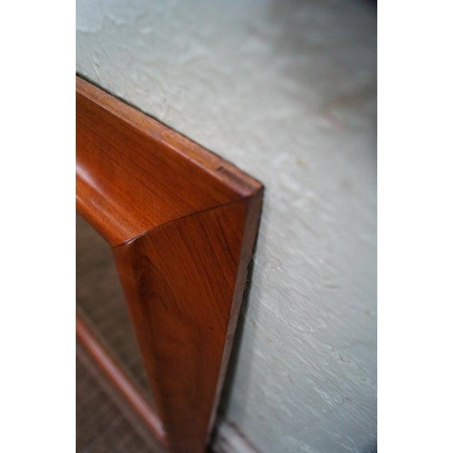 Stickley Solid Cherry Frame Rectangular Mirror - Image 6 of 10