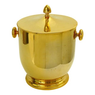 Mid-Century Modern Gold Ice Bucket