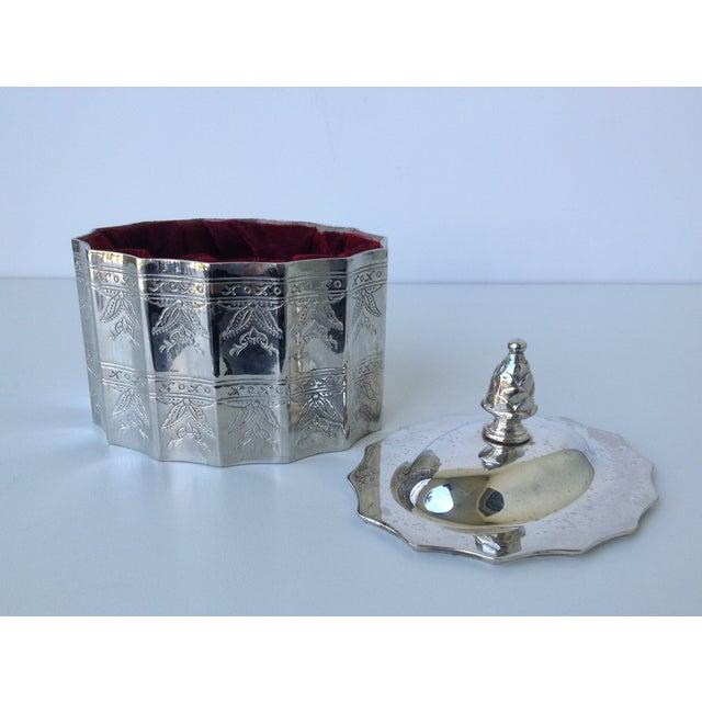 Silverplate Moorish Lidded Keepsake Box - Image 8 of 9