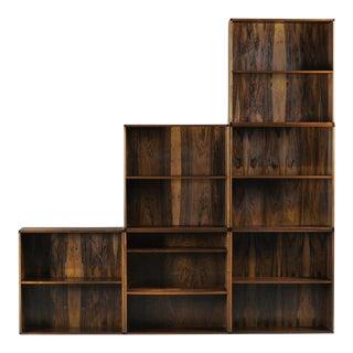 Midcentury Modern Rosewood Bookshelves by Aksel Kjaergaard (5 Left)