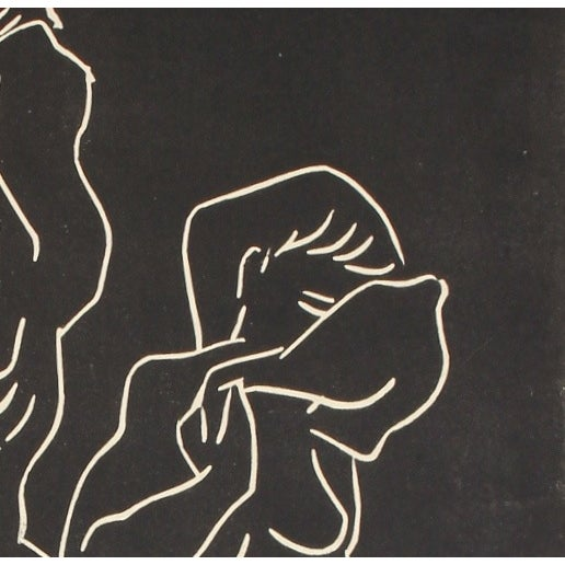 Image of Mid-Century Woodcut Relief Print