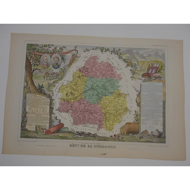 Image of Antique Map Provinces of France Engraving