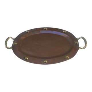 Copper & Brass Studded Tray