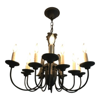 Antique Black Metal Chandelier