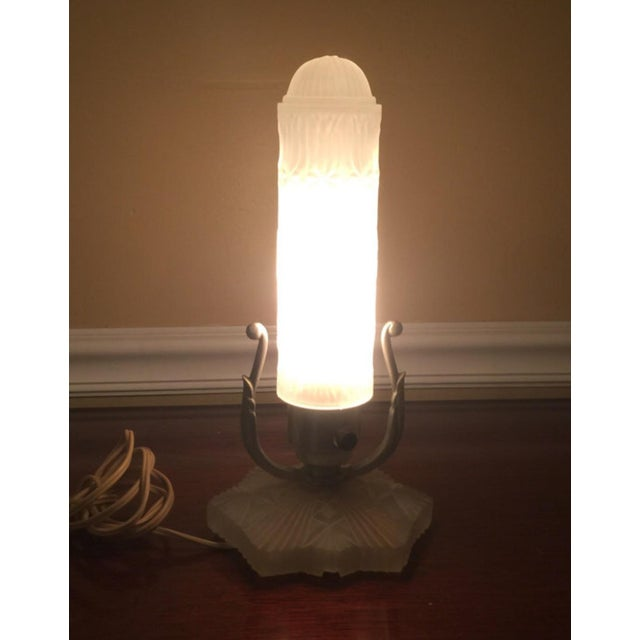 Image of Vintage Art Deco Glass Boudoir Lamps - A Pair