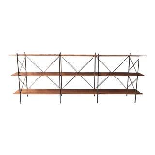 Custom Hand Made Iron Walnut Shelf