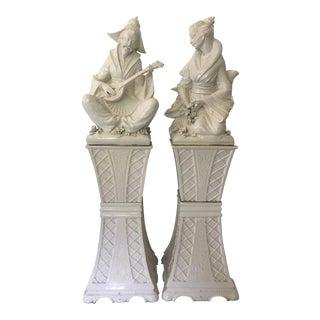 Mid-Century Italian Chinoiserie Figures - A Pair