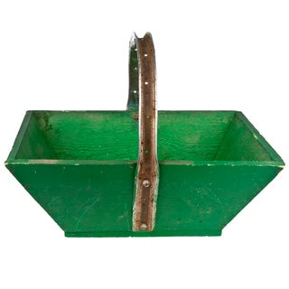 Vintage French Green Gardening Trug