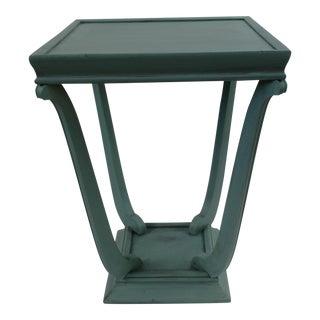 Blue Glazed Side Table