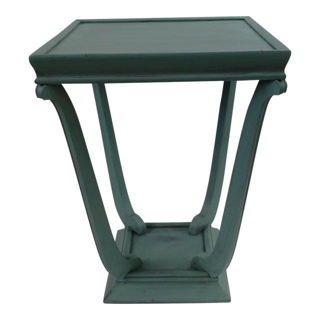 Blue Glazed Side Table - Image 1 of 6