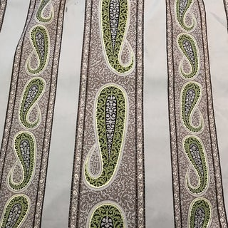 Pierre Frey French Gray Striped Paisley Fabric