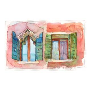 """Yevgenia Watts """"Neighbors"""" Original Painting"""