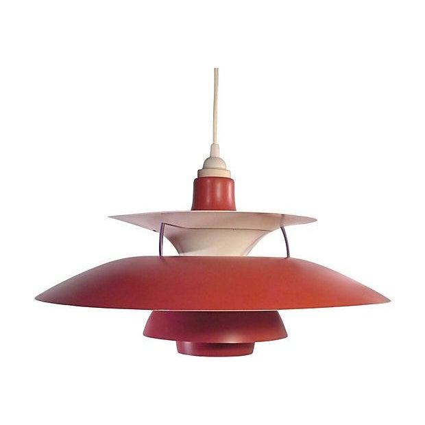 Red Danish Ph5 Hanging Light - Image 1 of 4