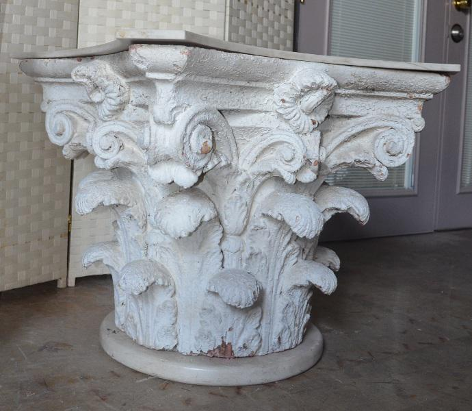 Architectural Corinthian Plaster Capital Table Base   Image 3 Of 11