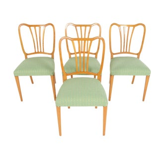 Swedish Modern Harp Back Dining Chairs - Set of 4