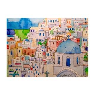 Original Watercolor of Mykonos
