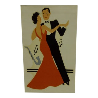 "1930s Vintage Decal / Wall Decoration ""The Dance"" the Meyercord Co. Chicago"