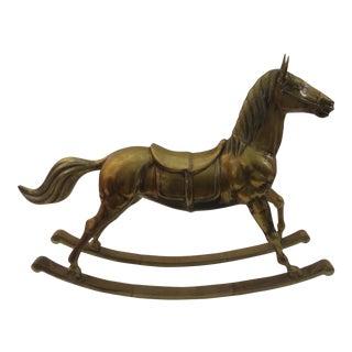 Vintage Brass Hobby Rocking Horse