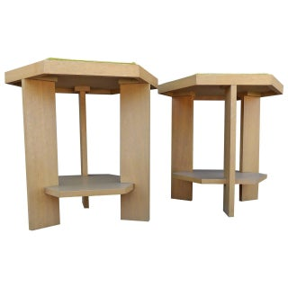 John H. Howe Mahogany End Tables - A Pair