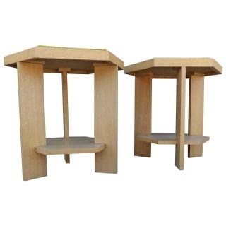 John H. Howe  Mahogany End Tables - A Pair