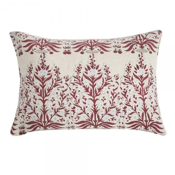 Block Print Linen Pillow - Image 1 of 3