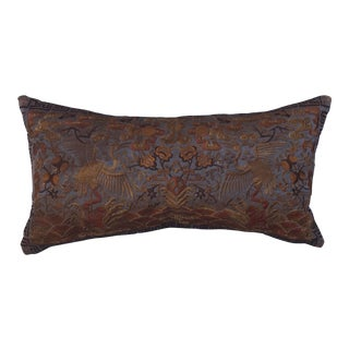 Hollywood Regency Bronze Asian Chinoiserie Boudoir Pillow