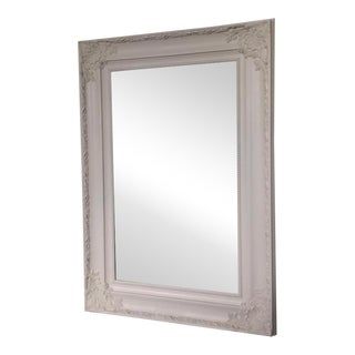 Vintage Mirror with White Painted Frame