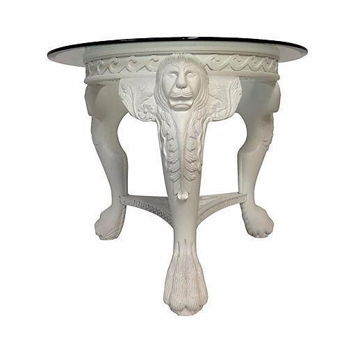 Carved Lion's Head Center Table - Image 1 of 4