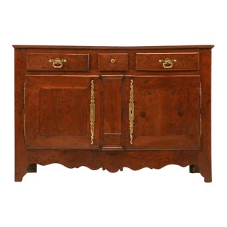 French 18th C. Louis XIII Solid Yew Wood Buffet