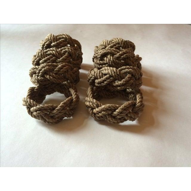 Nautical Knot Rope Napkin Holders - Set of 8 - Image 2 of 4
