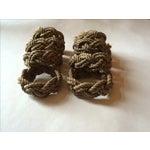 Image of Nautical Knot Rope Napkin Holders - Set of 8