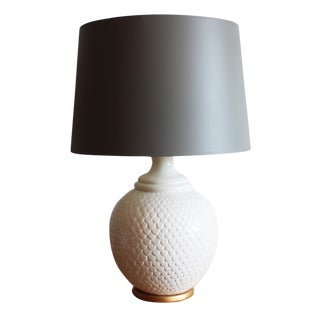 Ivory Scaled Table Lamp