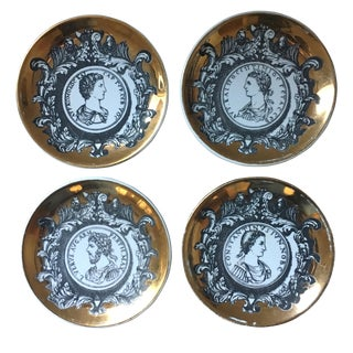 Piero Fornasetti Profili Romani Series Coasters - Set of 4