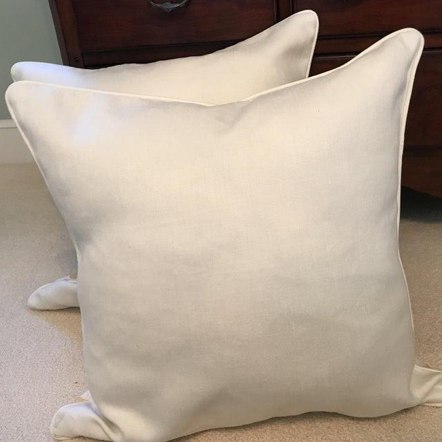 Schumacher Chenonceau Linen Pillows - A Pair - Image 4 of 7