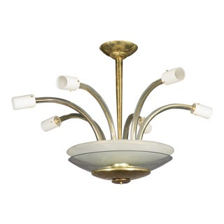 Monumental Six Arm Barovier and Toso Fixture