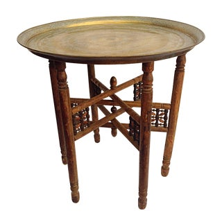 Middle Eastern Folding Brass Table