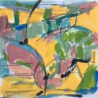 Horse Field - Sketch #1 Abstract Painting