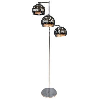 Koch & Lowy Omi 3-Globe Chrome Floor Lamp