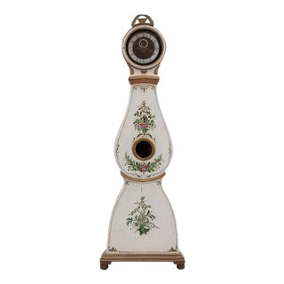 Antique Beige Mora Clock With Painted Flowers - Reserved