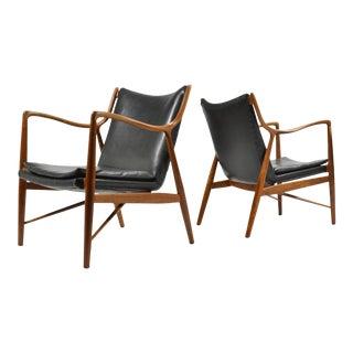 Finn Juhl Pair of No. 45 Easy Chairs