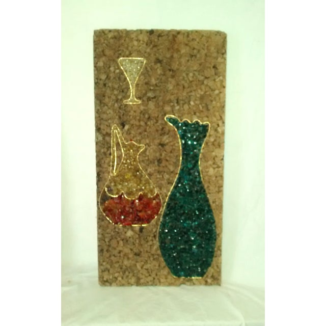 Mid-Century Gravel Cork Board Art - Pair - Image 4 of 6