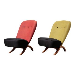 """Theo Ruth for Artifort """"Congo"""" Chairs - Pair"""