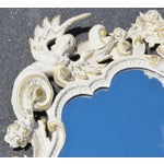 Image of Cream & Gilt Carved Italian Mirror