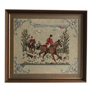 Needlepoint - Vintage Hunting Scene